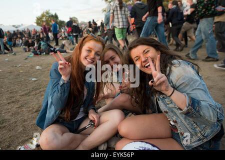 Kostrzyn Nad Odra, Polen. 30. Juli 2015. 21 Festival Przystanek Woodstock - es ist das größte offene Musikfestival - Stockfoto