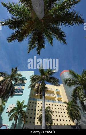 ART-DECO-STIL GEBÄUDE WASHINGTON AVENUE SOUTH BEACH MIAMI BEACH FLORIDA USA - Stockfoto
