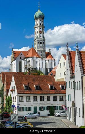 Sankt Ulrich und Afra Kloster Kirche, Augsburg, Schwaben, Bayern, Deutschland - Stockfoto