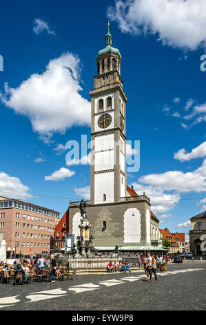 deutschland bayern augsburg rathausplatz brunnen menschen stockfoto bild 105273101 alamy. Black Bedroom Furniture Sets. Home Design Ideas