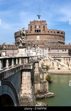 Castel Sant Angelo, Rom, Latium, Italien, Europa - Stockfoto