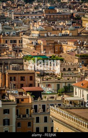 Skyline von Rom aus der Spitze von Vittorio Emmanuel II Monument erschossen.  Italien - Stockfoto