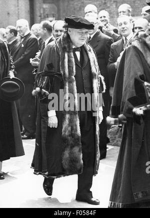 Churchill, Winston, 30.11.1874 - 24.1.1965, britischer Politiker (Cons.), Premierminister 10.5.1940 - 26.7.1945, - Stockfoto