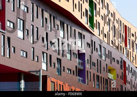 Die 2009-Chips ist ein Wohngebäude Wohnung, neben dem Ashton Kanal, in neue Islington, Manchester, England. Historica - Stockfoto