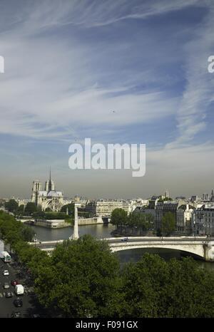 Stadtbild von Ile Saint-Louis in Paris, Frankreich - Stockfoto