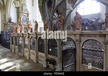 Abtei von St. Ulrich und St. Afra in Augsburg, Bayern, Deutschland - Stockfoto