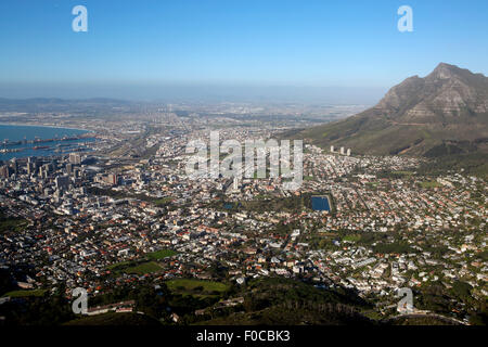 Blick auf Kapstadt vom Lions Head. - Stockfoto