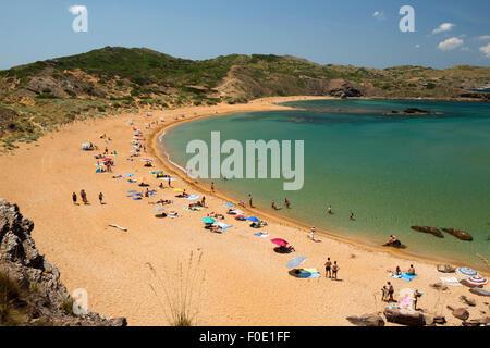 Platja de Cavalleria (Cavalleria Strand), in der Nähe von Fornells, Nordküste, Menorca, Balearen, Spanien, Europa - Stockfoto