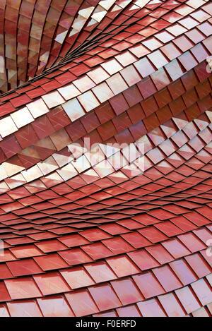 Architektonische Details des modernen roten Ziegeln - Stockfoto