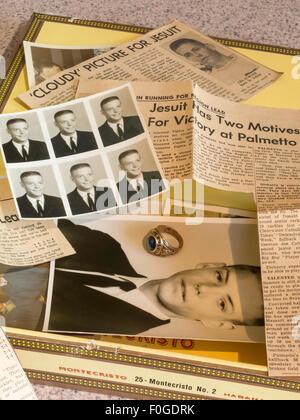 Zigarrenkiste der 1960er Jahre Erinnerungsstücke, USA - Stockfoto