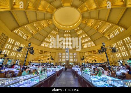 Das Innere des Psar Thmei Central Market in Phnom Penh, Kambodscha - Stockfoto