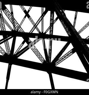 Schwarz / weiß-Brücke, Monochrom - Stockfoto