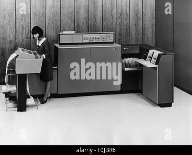 Technik, Computer, IBM System/360 Modell 20 Data Processing Unit, 1964, 20. Jahrhundert, EDV, IT, Drucker IBM 2203, - Stockfoto