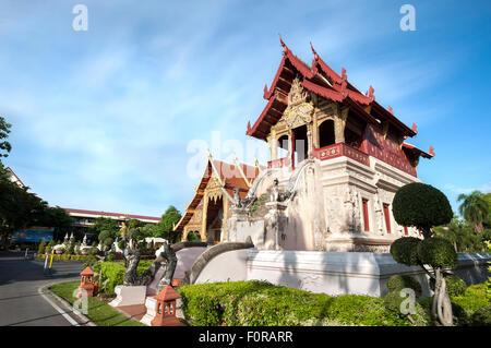 Bibliothek der Tempel Wat Phra Singh, Chiang Mai, Thailand - Stockfoto