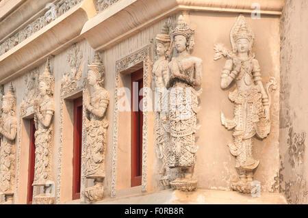 Äußere Detail der Bibliothek Tempel Wat Phra Singh, Chiang Mai, Thailand - Stockfoto