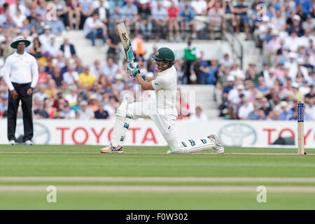 London, UK. 21. August 2015. Investec Asche 5. Test, Tag 2. England gegen Australien. Australiens Mitchell Starc - Stockfoto
