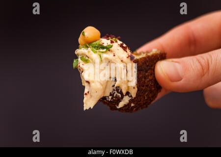 Hummus, Falafel - Stockfoto