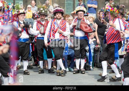 Das Saddleworth Ruschart Festival in Uppermill Sonntag, 23. August 2015). - Stockfoto