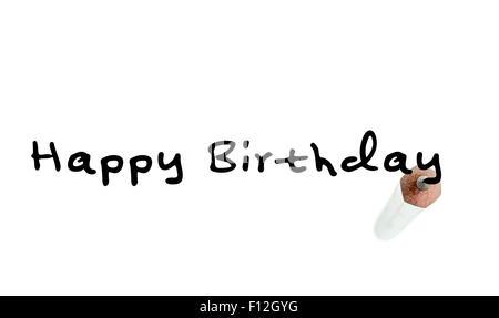 Alles Gute Zum Geburtstag Inschrift Auf Sand Hautnah Stockfoto Bild