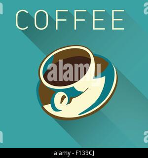 Kaffee-Obertasse Hintergrund mit Platz für Typ - Stockfoto