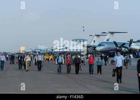 Moskau, Russland, Mittwoch, 26. August 2015. Die zwölften internationalen Moskau Luft-und Show MAKS 2015 eröffnete - Stockfoto