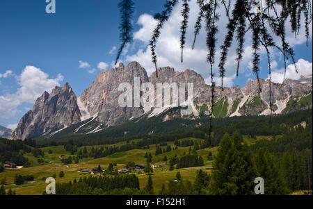 Pomagagnon Peaks bei Cortina d ' Ampezzo, Dolomiten, Italien - Stockfoto