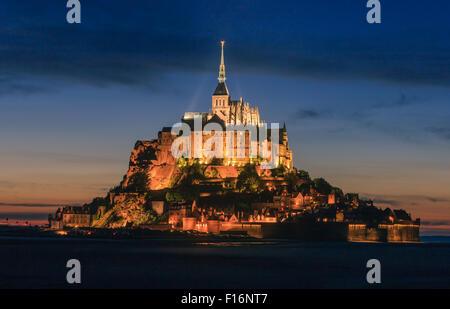 Mont Saint-Michel in der Normandie, Frankreich - Stockfoto