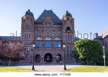 Die Ontario Legislative Building at Queen es Park in Toronto. Es beherbergt die viceregal Suite der Vizegouverneur - Stockfoto