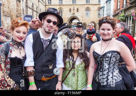 """Lincoln, UK. 30. August 2015. Steampunk Festival gefeiert am meisten """"splendid in der Welt"""", die größte Steampunk - Stockfoto"""