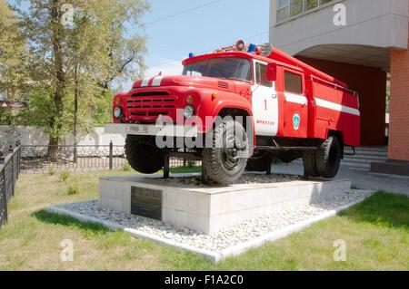 Irkutsk, Sibirien, Russland. 26. September 2009. Das Feuerwehrauto. Irkutsk, Sibirien, Russland © Andrey Nekrassow/ZUMA Wire/ZUMAPRESS.com/Alamy Live-Nachrichten