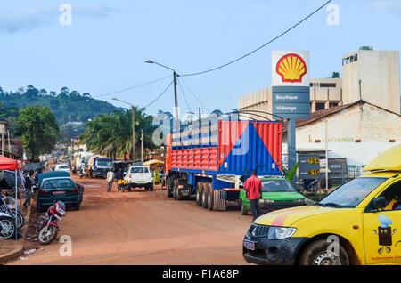 Shell-Tankstelle in Mann, Côte d ' Ivoire - Stockfoto
