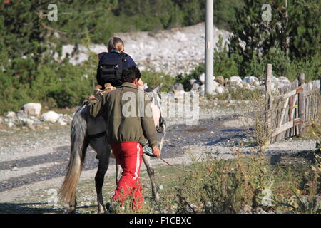 Thethi, Shkodra, verfluchten Berge, Albanien, Balkan, Europa - Stockfoto