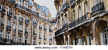 Typischen Haussmann-Gebäude, Paris, Frankreich - Stockfoto