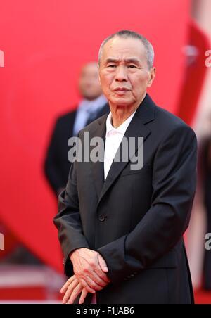 """Venedig, Italien. 2. Sep, 2015. Regisseur und Mitglied der Jury Hou Hsiao-Hsien besucht die Premiere von """"Everest"""" - Stockfoto"""
