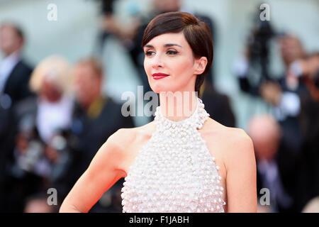 """Venedig, Italien. 2. Sep, 2015. Spanische Schauspielerin Mitglied der Jury Paz Vega besucht die Premiere von """"Everest"""" - Stockfoto"""