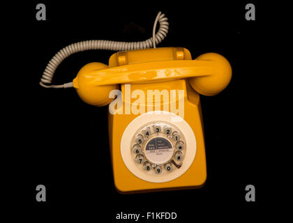 Senf-retro-Stil Telefon Ausschnitt - Stockfoto