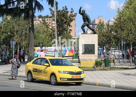 Denkmal für einen unbekannten Partisan, Rruga Xhorxhi W Bush, Tirana, Albanien, Balkan, Europa - Stockfoto