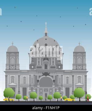 Berliner Dom in Berlin, Deutschland. Vektor-Illustration - Stockfoto