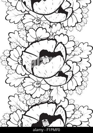 Abstrakte nahtlose Muster mit floralen Hintergrund Vektor-illustration - Stockfoto