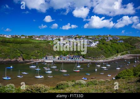 Solva Hafen, Pembrokeshire, Wales, Vereinigtes Königreich, Europa - Stockfoto