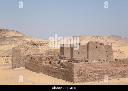 Kloster St. Simeon, gegründet im 7. Jahrhundert, Assuan, Ägypten, Nordafrika, Afrika - Stockfoto