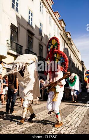 Internationale Festival iberischen Maske, Lissabon, Portugal, Europa - Stockfoto