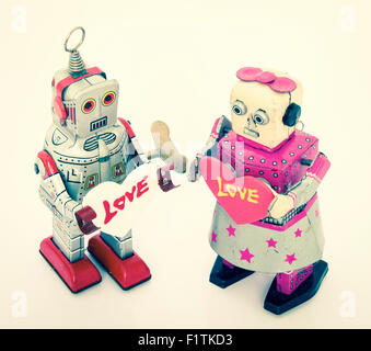 zwei Roboter verliebt - Stockfoto