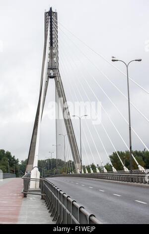 Die Heilig-Kreuz oder Fusse Brücke über die Weichsel in Warschau, Polen - Stockfoto