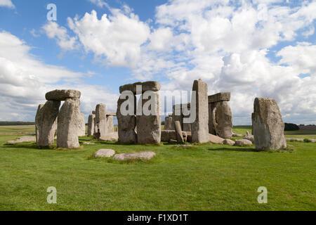 Prähistorische neolithischen Monument Stonehenge und UNESCO-Weltkulturerbe, Wiltshire England UK