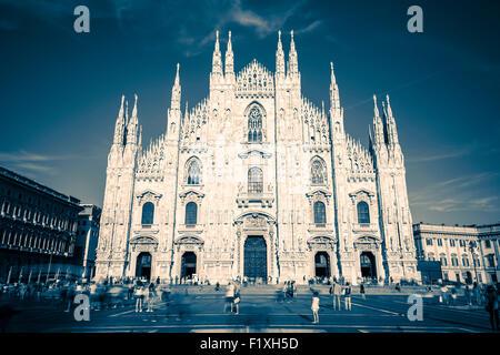 Mailänder Dom, Duomo, Piazza del Duomo. Fotografische Sonderbearbeitung - Stockfoto