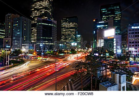 Gangnam District, Seoul, Südkorea - Stockfoto