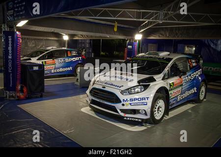Coffs Harbour, Australien. 9. September 2015. Coffs Harbour, Australien. Die M-Sport Ford Fiesta RS World Rally - Stockfoto