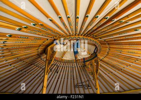 Mongolische Ger Interieur - Stockfoto