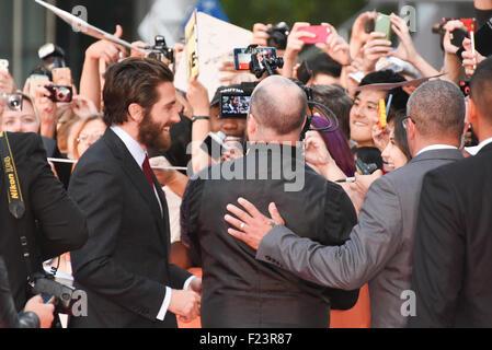 "Toronto, Ontario, Kanada. 10. Sep, 2015. Schauspieler JAKE GYLLENHAAL besucht Fox Searchlight ""Abriss"" Toronto International - Stockfoto"